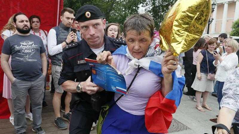 Марш в поддержку Голунова в Москве: фото и видео